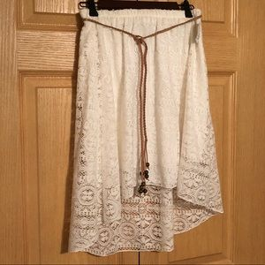 Maurices White Hi-Low skirt, size medium with tags